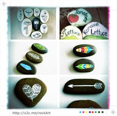 http://v2c.me/rockArt My Mom, Charlotte, classic hippie chick, taught me to paint rocks when I was little. My DYI spring project #18! Pinning and counting the days till warmer weather.