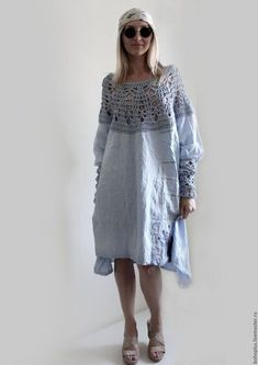 Платья ручной работы. Платье из тонкого льна