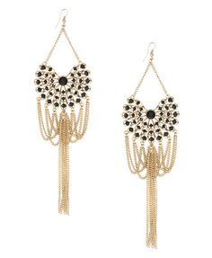Forever 21 - Draped fringe earrings