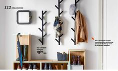 JULES BLOG: 16 things I like about the new IKEA Catalog 2016 // I love these coat racks. Perfect for our entryway.