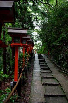 Path of Kurama-dera Temple, Kyoto, Japan