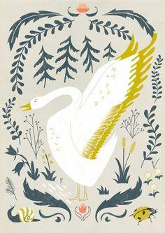 Wild Goose Book Plate Garden Illustration, Pattern Illustration, Beatrix Potter, Creature Comforts, Color Stories, Illustrations, Color Pallets, Color Inspiration, Daily Inspiration