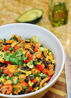 Southwestern Grilled Sweet Potato Salad (I'm sure roasting the sweet potatoes in the oven would work too)