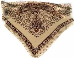 Cream Paisley scarf, Pocket kerchief for Men, Black Cream Neckerchief, Birthday gift for Secretary, Gifts under 20 for her, White Elephant by blingscarves. Explore more products on http://blingscarves.etsy.com