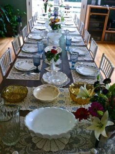 A family dinner table - Southern Vintage Table