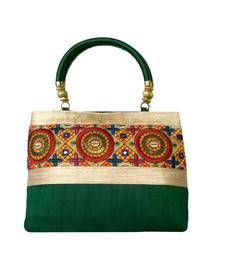 ad4b5ecd11e7 Buy Raw Silk Handbag with Traditional Mango Border (Red) handbag ...