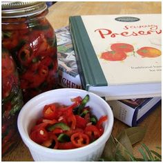 Pickled Chillies - SImple and delicious (and a great gift for Christmas!)