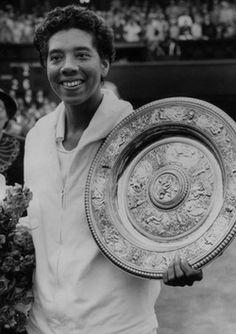 Althea Gibson winning Wimbledon
