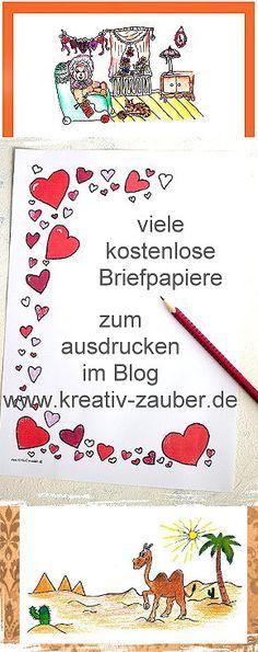 Briefpapier Vorlage ☆ Herzen ☆ Muttertag ☆ Kreativzauber ...