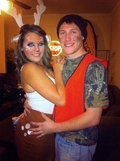 Deer and Hunter Halloween costume. Under $20!  sc 1 st  Pinterest & Deer and hunter couple Halloween costumes! | Couple Halloween ...
