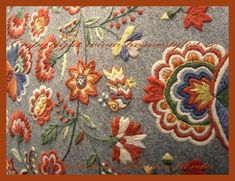 Traditional wool embroidery from Scandinavia