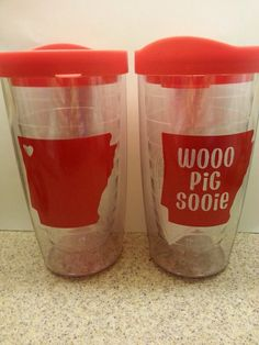 Arkansas Razorbacks Tumbler by DoodleandBugDesigns on Etsy, $15.00