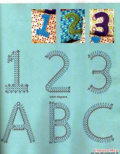Вязаные цифры и буквы. Вязание крючком.