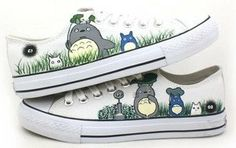 My Neighbor Totoro anime Shoes Converse by handpaintedshoes2014, $59.00