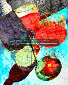 This unique wine wall art is available @etsy on Takumi Park as a photo print. The wine art print is available in different sizes. Custom sizes can be requested. The wine print is $15.88 and up.