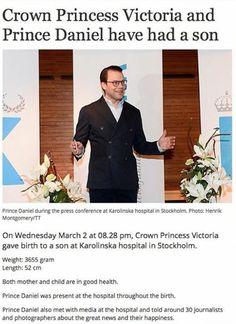 Prince Daniel announces the arrival of his son, Prince Oscar, 2 March 2016