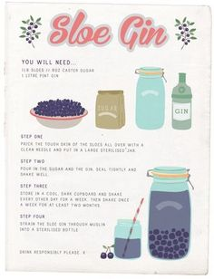What to make with sloe berries? Really easy sloe gin! Recipe on http://moralfibres.co.uk/make-your-own-sloe-gin/