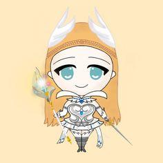 Odette Chibi Mobile Legends Mobiles, Chibi, Big And Rich, Fan Art, Mobile Legends, Cosplay, Avatar, Anime, Princess Zelda