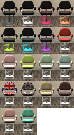 [vanity is a virtue] recolors of the maxis makeover chair - nimbus