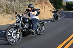 Harley Blackline. This is such an attractive picture. Just cruise.