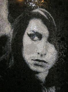 Pixel-Glass мозаика .  Первый портрет в этой технике . 17 тыс кусочков стекла. 2 месяца работы ....