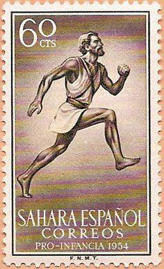 Sello Sáhara Occidental, Pro Infancia 1954 - Portal Fuenterrebollo