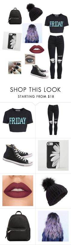 """out with friends"" by nevaehjazz ❤ liked on Polyvore featuring Alberta Ferretti, AMIRI, Converse, Miss Selfridge and MANGO"