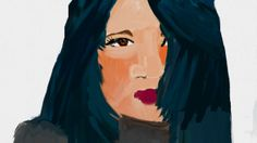 Drawn with computer mouse and the fingertip on the touchscreen on  pc :) Helene H.Hagen
