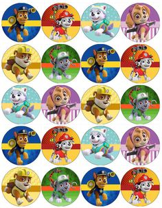 Learn the best ideas to celebrate a Paw Patrol Party from a brainstorm that will show you how to make Paw Patrol decorations for a very fun child's Paw Patrol Cupcake Toppers, Paw Patrol Cupcakes, Paw Patrol Cake, Paw Patrol Party, Paw Patrol Birthday Theme, 3rd Birthday Parties, Boy Birthday, Anniversaire My Little Pony, Imprimibles Paw Patrol