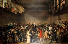 The Tennis Court Oath, June 1789 - Jacques Louis David as art print or hand painted oil. History Class, Teaching History, World History, Art History, French History, Le Tiers Etat, David Painting, Luis Xvi, Musee Carnavalet