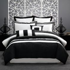 Cavalaire Quilt Cover Set | Black | Queen by Linen House Super Sale on THEHOME.COM.AU