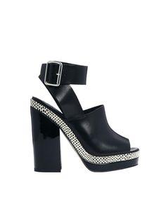 ASOS | ASOS HEIST Leather Heeled Sandals at ASOS