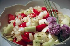 Cucumber Cherry Tomato Salad, Cucumber Tomato Salad, Cooking Recipes, Healthy Recipes, What's Cooking, Healthy Food, Italian Spices, Easy Salads, Fried Chicken
