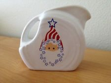 Fiesta Ware New Mini Pitcher Uncle Santa - Christmas 4th of July