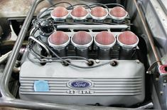 "Fifty years ago, it was hailed as ""Ford's greatest engine"". Wonder: The Infamous SOHC 427 Cammer Ford Racing Engines, Race Engines, Mustang Fastback, Ford Mustang, 1973 Mustang, Ford Sport, Warp Drive, Car Man Cave, Car Insurance Rates"