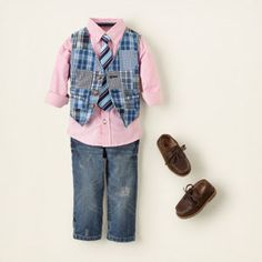 Cute little boy's Easter outfit (I don't think Aaron would let me dress Aiden in pink, though).