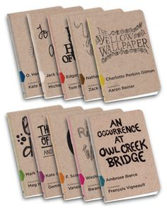 make your own books- moleskin journals, color dots, lots of marker doodles & a story.