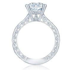 TACORI Vintage 18K - White Gold Diamond Engagement Ring 2644PR834