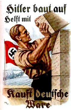Hitler baut auf Delft mit kauft deutsche ware - Help Hitler build by buying German goods