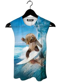 Sloth Surfer Muscle Tank