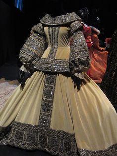 """Greta Garbo's dress in the film """"Queen Christina"""". The actress played Queen Christina of Sweden."""