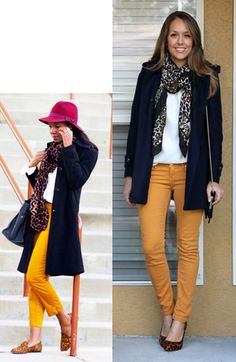 J's Everyday Fashion provides outfit ideas, budget fashion, shopping on a budget, personal style inspiration, and tips on what to wear. Mustard Yellow Pants, Yellow Jeans, Mustard Jeans Outfit, Outfits 2014, Fashion Outfits, Fashion Tips, Fashion Trends, Yellow Pants Outfit, Js Everyday Fashion