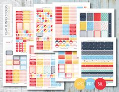 Free Monthly Printable Planner Stickers Set - Work Day - Erin Condren