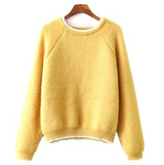 {Spanish Style} 2 Colors Long Sleeves Knitted Sweater