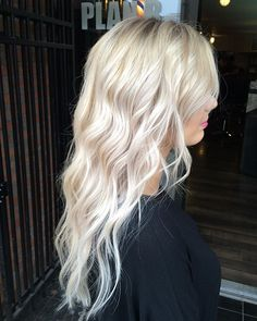 Silverish blonde, I love platinum blonde, it's my fav color to have