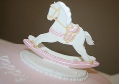 rocking horse cake topper by The Cake Perfectionist.co.uk