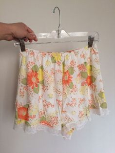 d326116f18a6 Vintage 50s Philmaid Tap Nylon And Lace Bright Floral Print Granny Panties  Large #Philmaid #