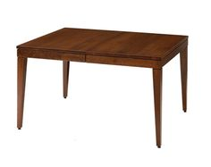 End Table Shape  Amish Metro Solid Top Dining Room Table - Keystone Collection