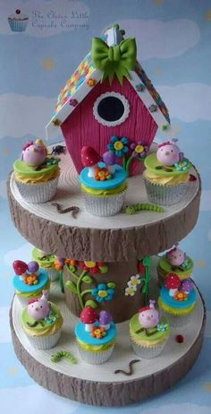 Bird House Cake and Cupcake Set