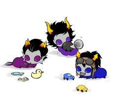 Cronus, Kurloz, and Horrus grubs http://q-dormir.tumblr.com/post/59934012503/q-dormir-highblood-%CE%B1-boys-d-ancestors